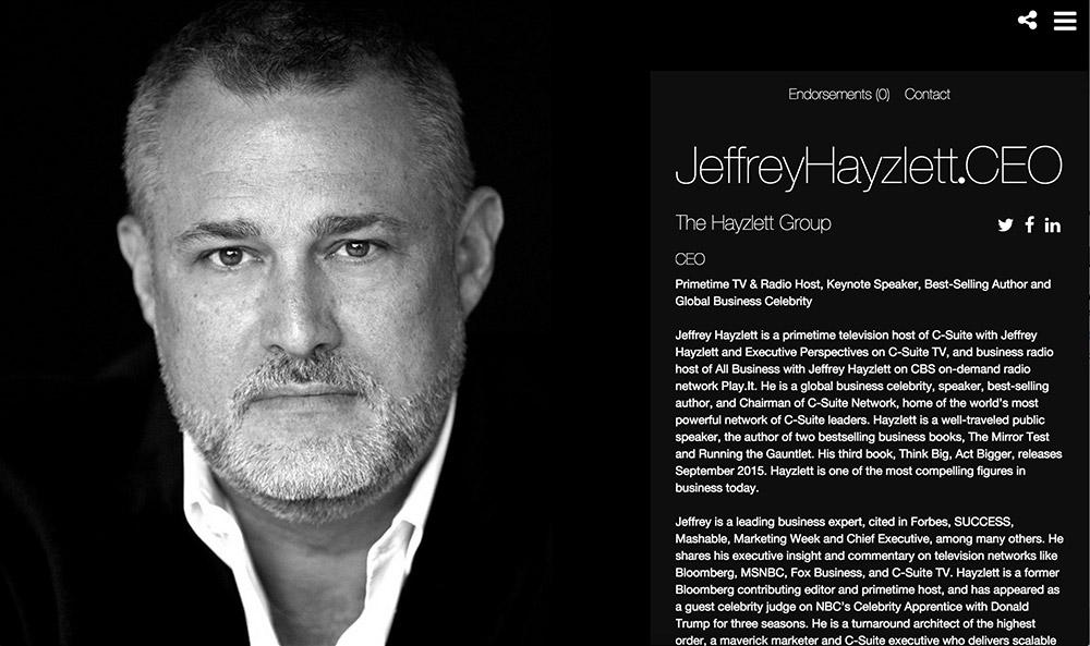 JeffreyHayzlett.CEO